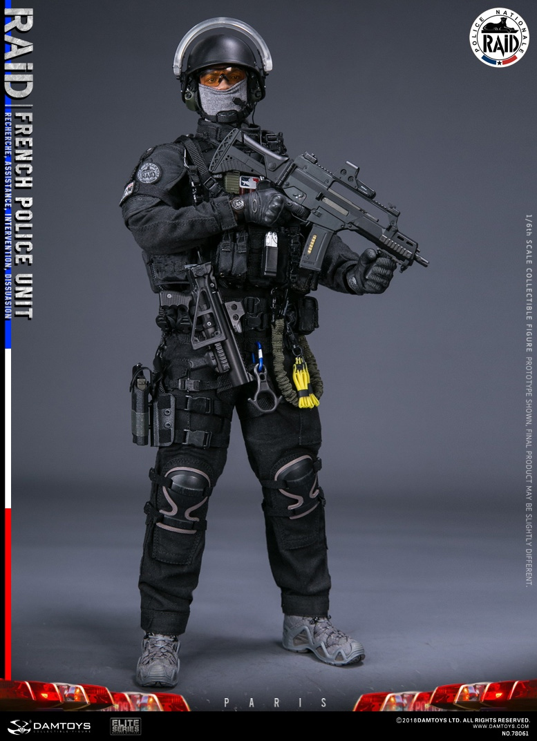 "DamToys - NEW PRODUCT: [DAM] DAMTOYS New: 1/6 French Special Police ""Black Panther / RAID"" Anti-Terrorism Commando - Paris (78061#) 14112710"
