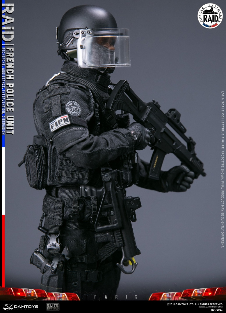 "DamToys - NEW PRODUCT: [DAM] DAMTOYS New: 1/6 French Special Police ""Black Panther / RAID"" Anti-Terrorism Commando - Paris (78061#) 14112910"