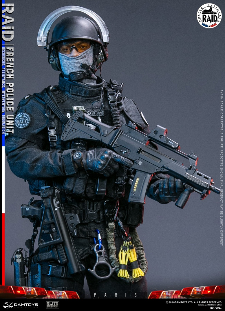 "DamToys - NEW PRODUCT: [DAM] DAMTOYS New: 1/6 French Special Police ""Black Panther / RAID"" Anti-Terrorism Commando - Paris (78061#) 14113011"