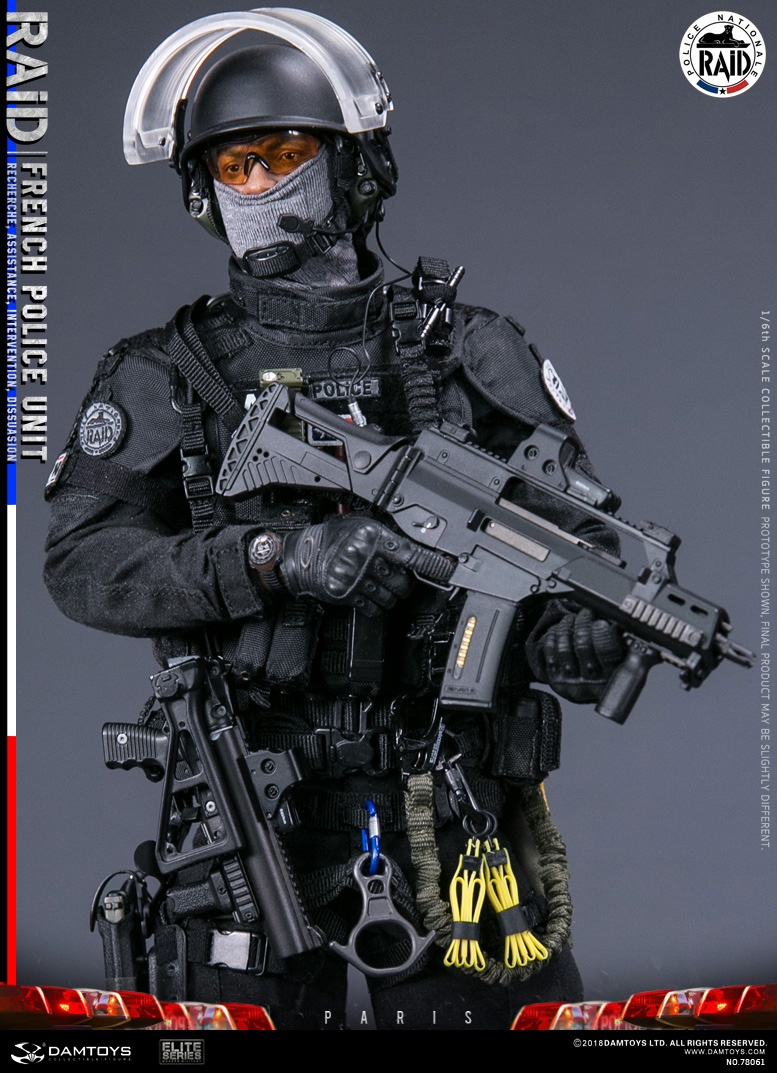 "DamToys - NEW PRODUCT: [DAM] DAMTOYS New: 1/6 French Special Police ""Black Panther / RAID"" Anti-Terrorism Commando - Paris (78061#) 14113110"