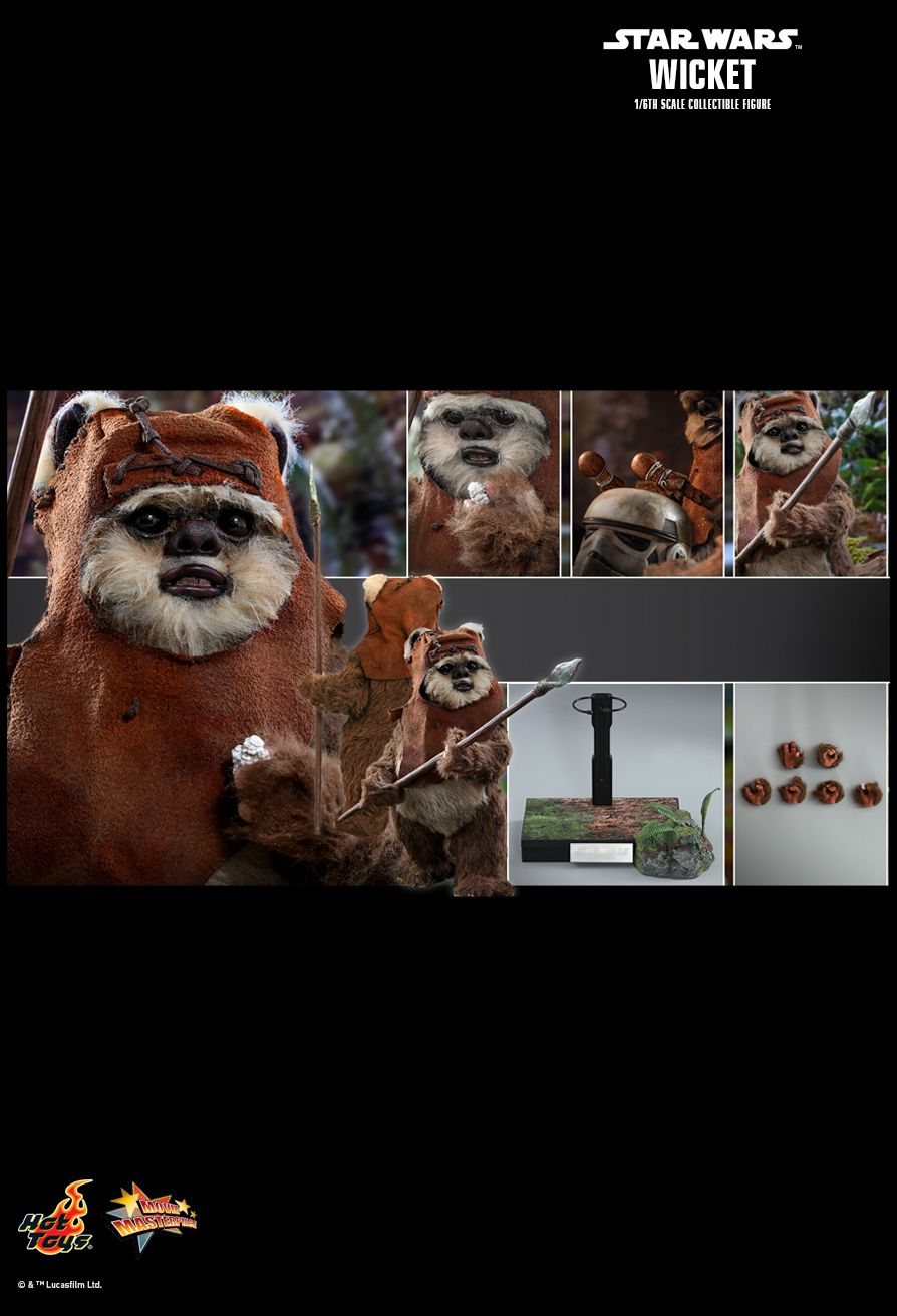 NEW PRODUCT: HOT TOYS: STAR WARS: RETURN OF THE JEDI WICKET 1/6TH SCALE COLLECTIBLE FIGURE 14139