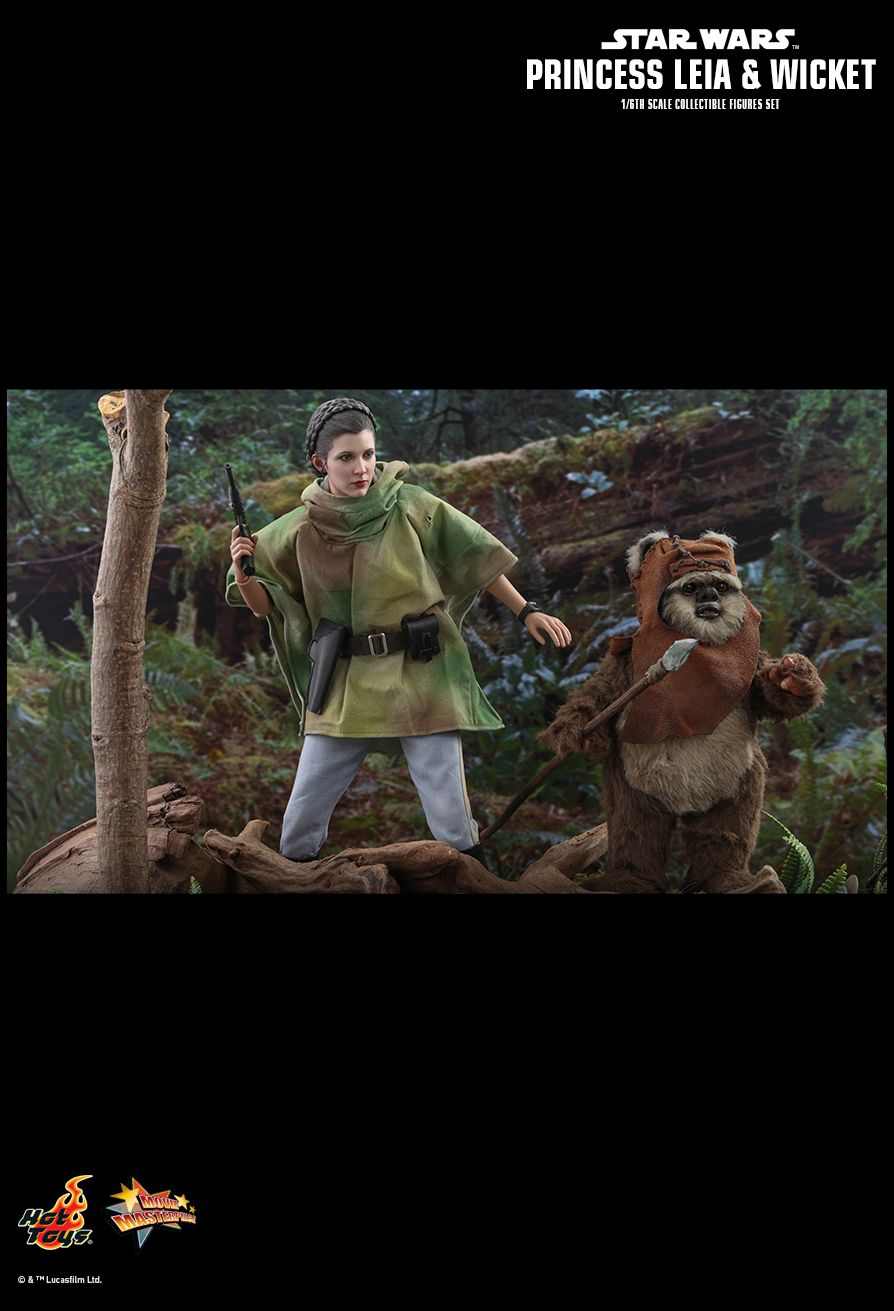 Endor Leia - NEW PRODUCT: HOT TOYS: STAR WARS: RETURN OF THE JEDI PRINCESS LEIA AND WICKET 1/6TH SCALE COLLECTIBLE FIGURES SET 14140