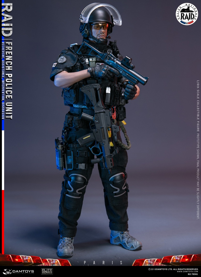 "DamToys - NEW PRODUCT: [DAM] DAMTOYS New: 1/6 French Special Police ""Black Panther / RAID"" Anti-Terrorism Commando - Paris (78061#) 14140211"