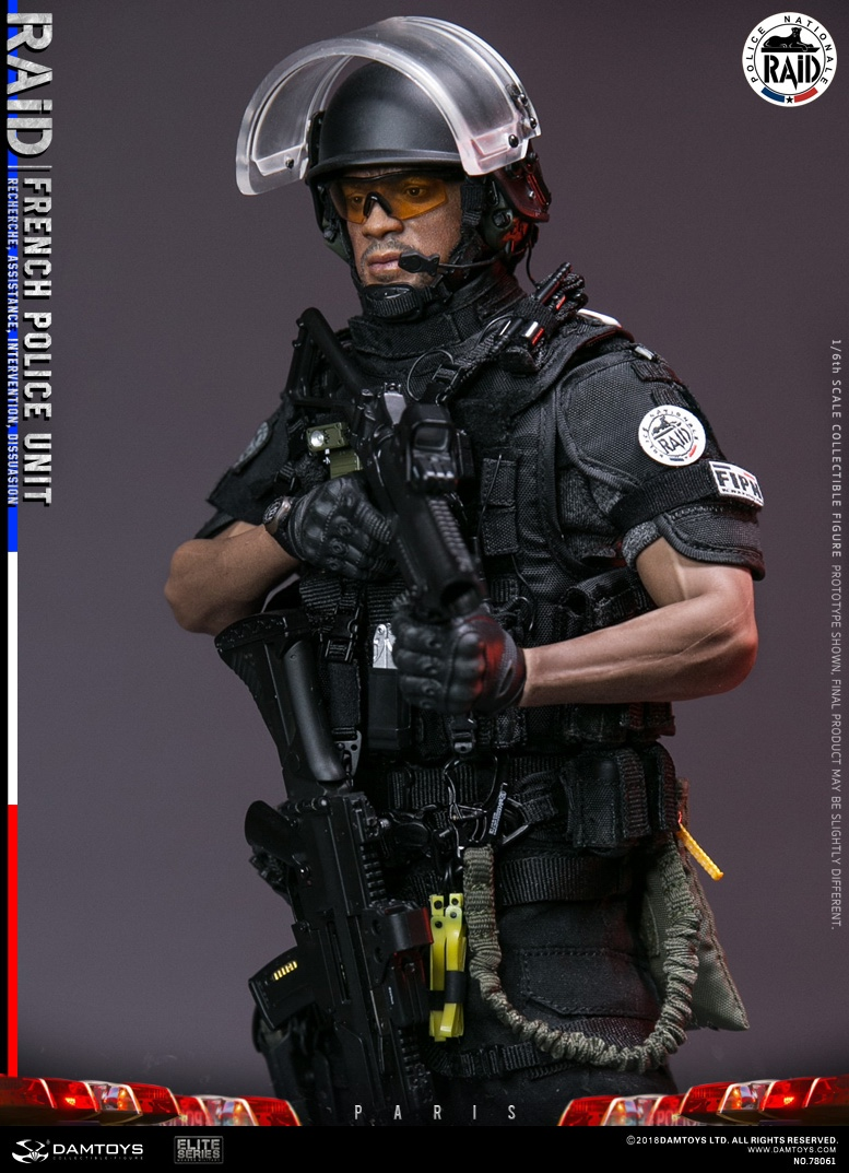 "DamToys - NEW PRODUCT: [DAM] DAMTOYS New: 1/6 French Special Police ""Black Panther / RAID"" Anti-Terrorism Commando - Paris (78061#) 14140310"