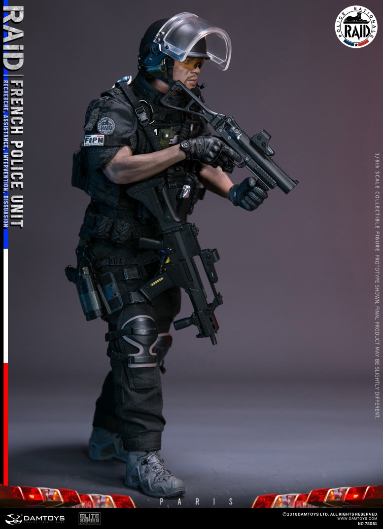 "DamToys - NEW PRODUCT: [DAM] DAMTOYS New: 1/6 French Special Police ""Black Panther / RAID"" Anti-Terrorism Commando - Paris (78061#) 14140410"