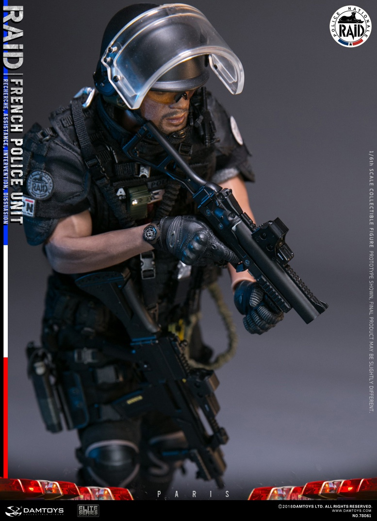 "DamToys - NEW PRODUCT: [DAM] DAMTOYS New: 1/6 French Special Police ""Black Panther / RAID"" Anti-Terrorism Commando - Paris (78061#) 14140411"