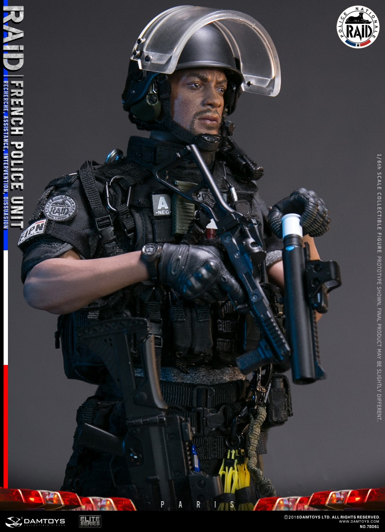 "DamToys - NEW PRODUCT: [DAM] DAMTOYS New: 1/6 French Special Police ""Black Panther / RAID"" Anti-Terrorism Commando - Paris (78061#) 14140510"