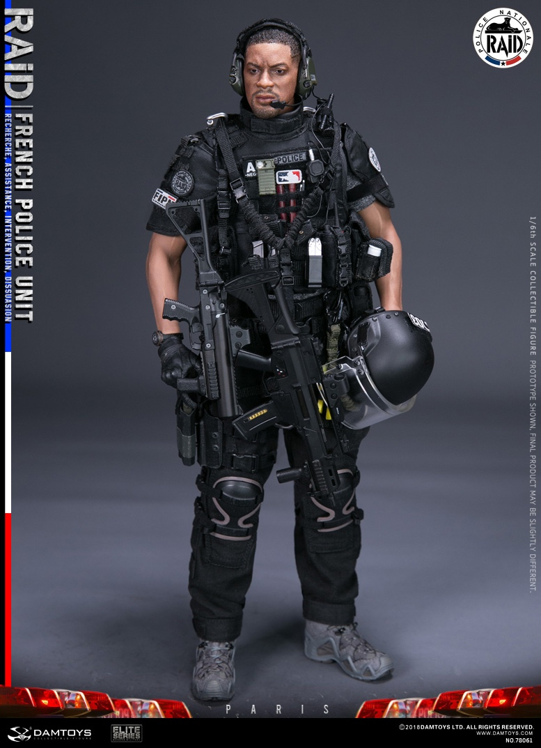 "DamToys - NEW PRODUCT: [DAM] DAMTOYS New: 1/6 French Special Police ""Black Panther / RAID"" Anti-Terrorism Commando - Paris (78061#) 14143610"