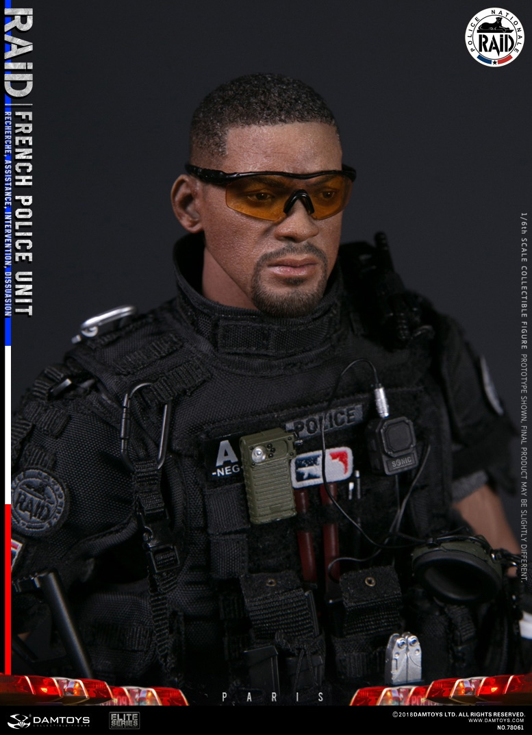 "DamToys - NEW PRODUCT: [DAM] DAMTOYS New: 1/6 French Special Police ""Black Panther / RAID"" Anti-Terrorism Commando - Paris (78061#) 14143710"