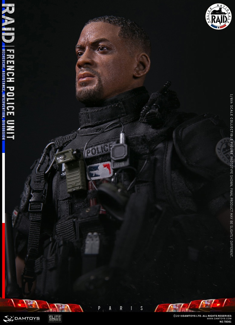 "DamToys - NEW PRODUCT: [DAM] DAMTOYS New: 1/6 French Special Police ""Black Panther / RAID"" Anti-Terrorism Commando - Paris (78061#) 14143810"