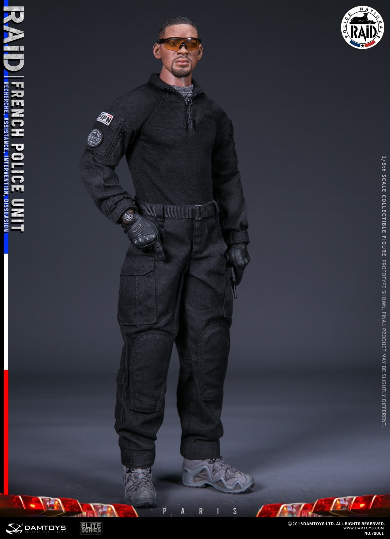 "DamToys - NEW PRODUCT: [DAM] DAMTOYS New: 1/6 French Special Police ""Black Panther / RAID"" Anti-Terrorism Commando - Paris (78061#) 14150710"