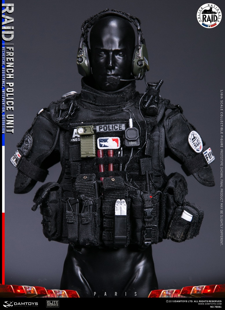 "DamToys - NEW PRODUCT: [DAM] DAMTOYS New: 1/6 French Special Police ""Black Panther / RAID"" Anti-Terrorism Commando - Paris (78061#) 14151910"