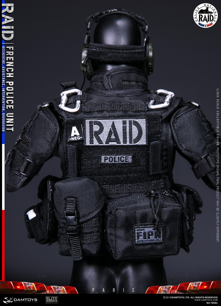 "DamToys - NEW PRODUCT: [DAM] DAMTOYS New: 1/6 French Special Police ""Black Panther / RAID"" Anti-Terrorism Commando - Paris (78061#) 14153410"