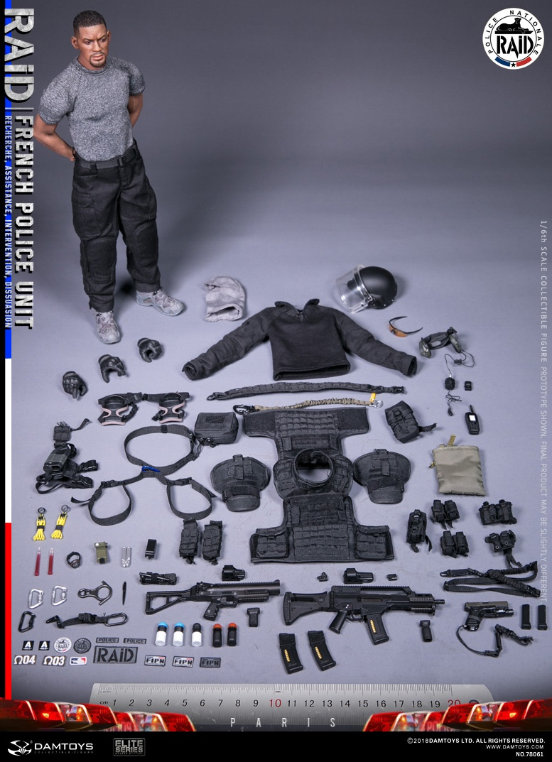 "DamToys - NEW PRODUCT: [DAM] DAMTOYS New: 1/6 French Special Police ""Black Panther / RAID"" Anti-Terrorism Commando - Paris (78061#) 14161711"