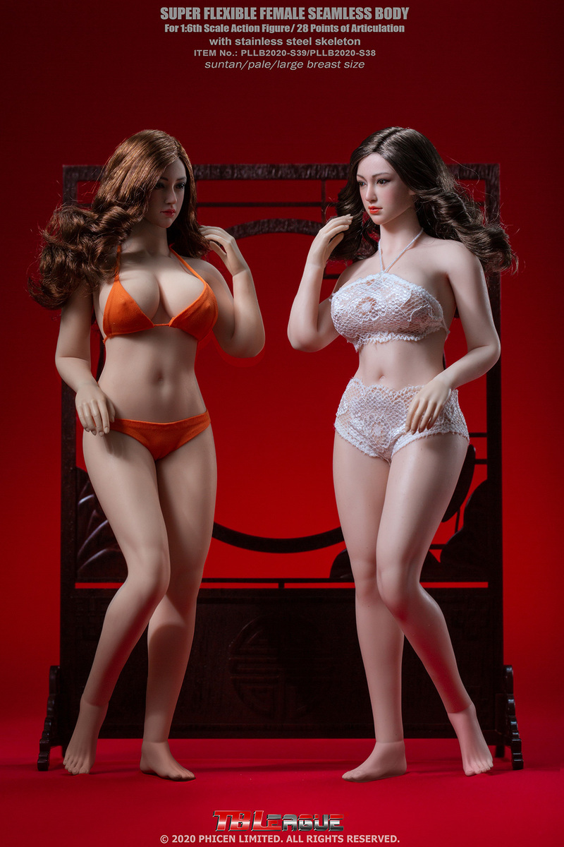"body - NEW PRODUCT: TBLeague: 1/6 scale ""Chubby"" Female Body (2 styles, with or without a head sculpt) 14190"