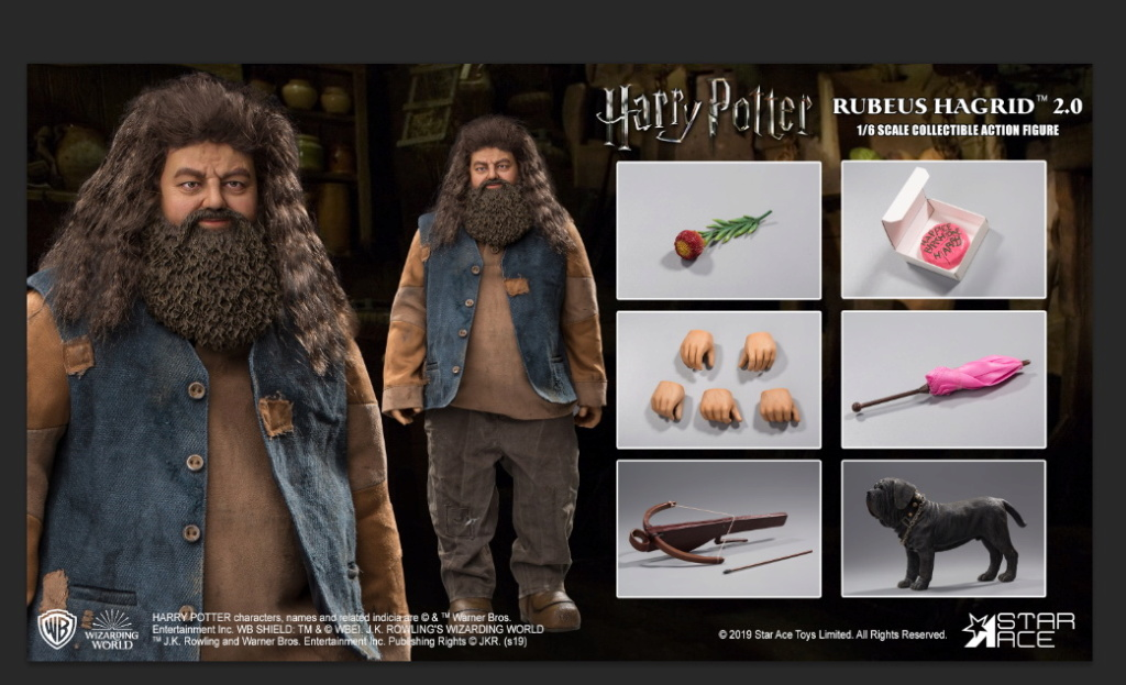 "male - NEW PRODUCT: StarAce Toys: 1/6 ""Harry Potter"" - Rubeus Hagrid / Luber Hager 2.0 (#SA0072) 14192710"