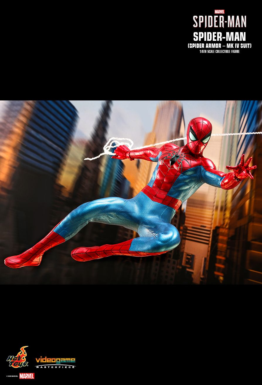 videogame - NEW PRODUCT: HOT TOYS: SPIDER-MAN (SPIDER ARMOR - MK IV SUIT) MARVEL'S SPIDER-MAN 1/6TH SCALE COLLECTIBLE FIGURE 14207
