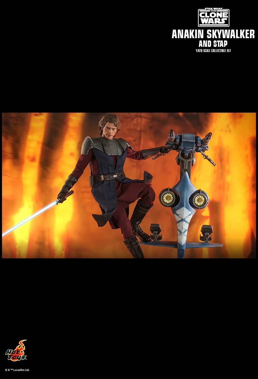 Sci-Fi - NEW PRODUCT: HOT TOYS: STAR WARS: THE CLONE WARS ANAKIN SKYWALKER AND STAP 1/6TH SCALE COLLECTIBLE SET 14215