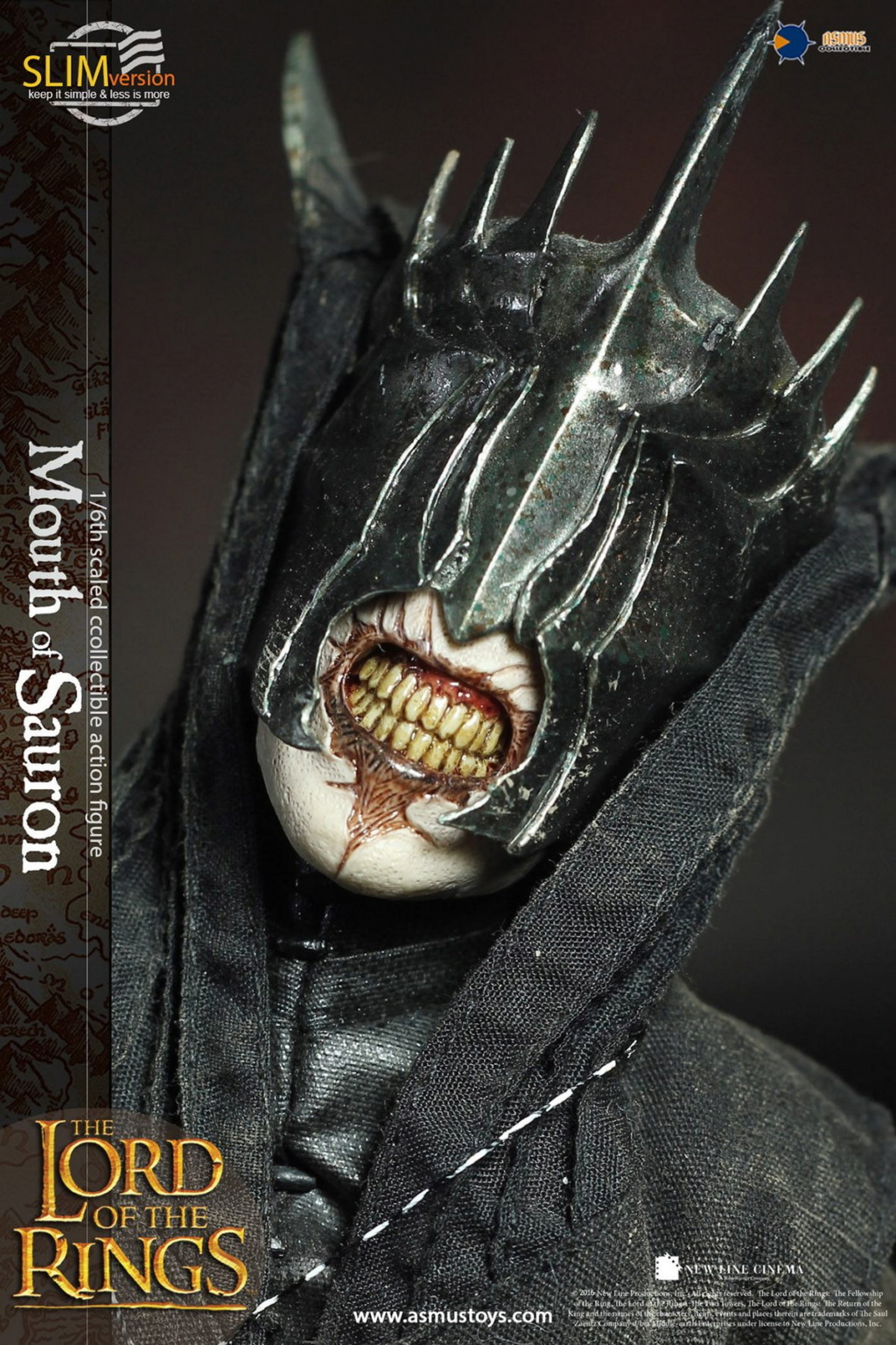 "NEW PRODUCT: Asmus Toys: 1/6 ""The Lord of the Rings"" - MOUTH OF SAURON Slim Version (LOTR009s) 14251910"