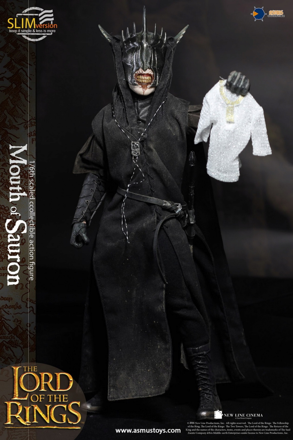 "NEW PRODUCT: Asmus Toys: 1/6 ""The Lord of the Rings"" - MOUTH OF SAURON Slim Version (LOTR009s) 14255010"