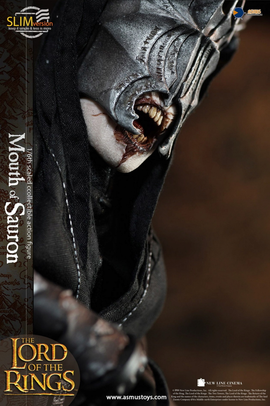"NEW PRODUCT: Asmus Toys: 1/6 ""The Lord of the Rings"" - MOUTH OF SAURON Slim Version (LOTR009s) 14265710"