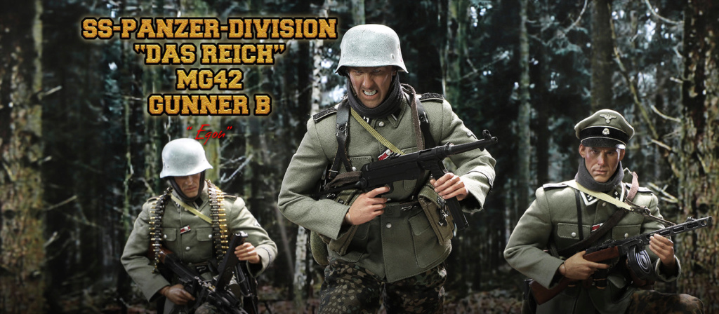 DiD - NEW PRODUCT: DiD 1/6 scale figure Egon - SS-Panzer-Division Das Reich MG42 Gunner B 1427