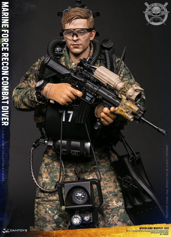 DamToys - NEW PRODUCT: DAM Toys: Marine Force Recon Combat Diver (Desert MARPAT) (GIDAM-78056) & (Woodland MARPAT) (GIDAM-78055) 1429