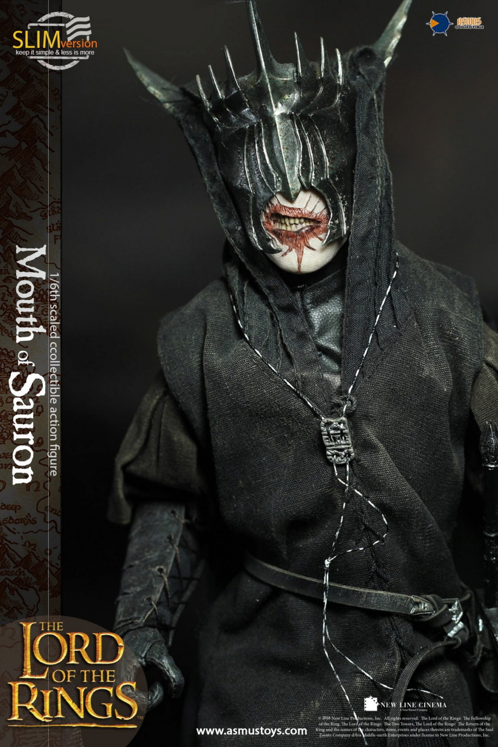 "NEW PRODUCT: Asmus Toys: 1/6 ""The Lord of the Rings"" - MOUTH OF SAURON Slim Version (LOTR009s) 14330210"