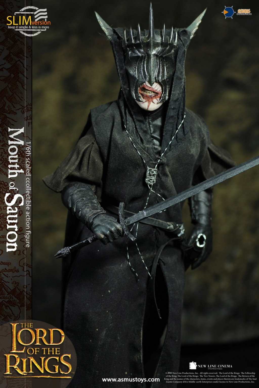 "NEW PRODUCT: Asmus Toys: 1/6 ""The Lord of the Rings"" - MOUTH OF SAURON Slim Version (LOTR009s) 14343910"