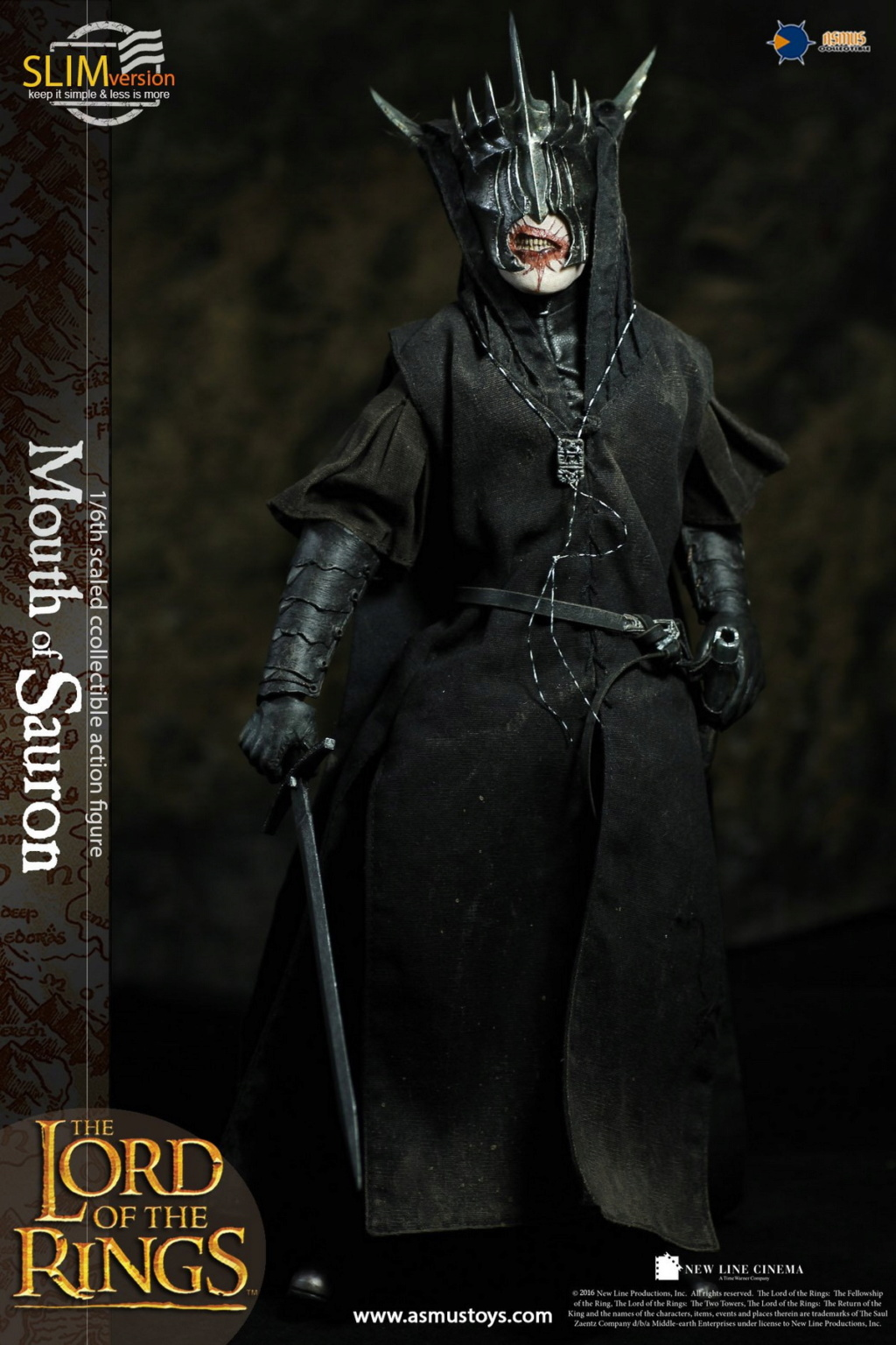 "NEW PRODUCT: Asmus Toys: 1/6 ""The Lord of the Rings"" - MOUTH OF SAURON Slim Version (LOTR009s) 14353510"