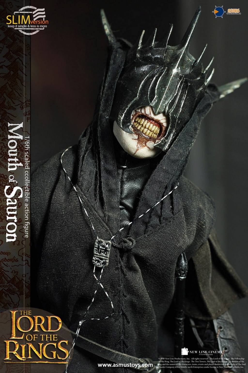 "NEW PRODUCT: Asmus Toys: 1/6 ""The Lord of the Rings"" - MOUTH OF SAURON Slim Version (LOTR009s) 14431510"