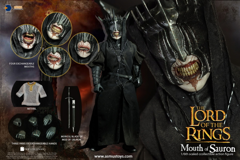 "NEW PRODUCT: Asmus Toys: 1/6 ""The Lord of the Rings"" - MOUTH OF SAURON Slim Version (LOTR009s) 14433810"