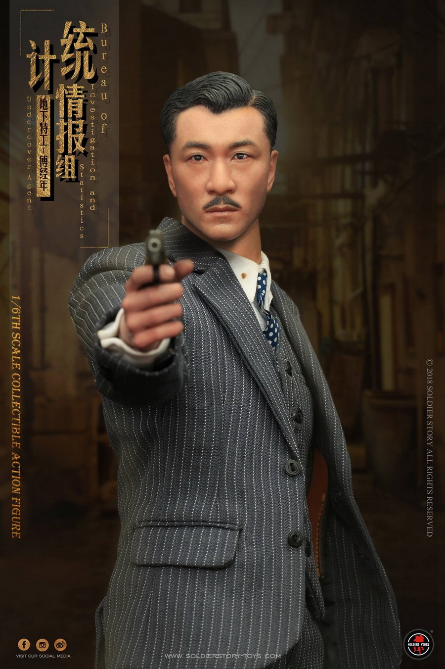 SoldierStory - NEW PRODUCT: SoldierStory new product: 1/6 World War II statistical intelligence group underground agent Fu Jingian - Shanghai 1942 (SS113#) 1455