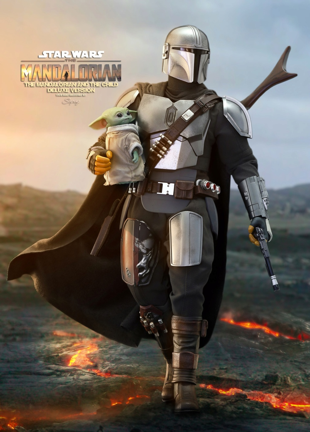 Sci-Fi - NEW PRODUCT: HOT TOYS: THE MANDALORIAN THE MANDALORIAN AND THE CHILD 1/6TH SCALE COLLECTIBLE SET (Standard and Deluxe) 14e6a010