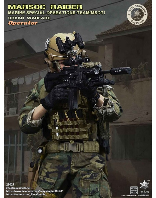 NEW PRODUCT: Easy & Simple 26027 1/6 Scale MARSOC Raider Urban Warfare Operator 15-52810