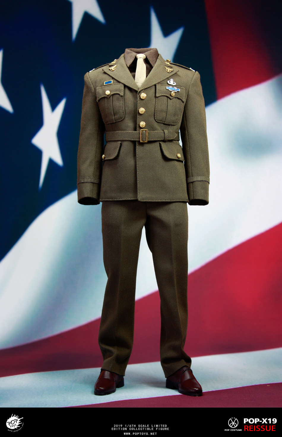 male - NEW PRODUCT: POPTOYS: 1/6 Series X19 World War II Edition Golden Age US Team Uniform Uniform Set - 19 Years Reprint 15021710