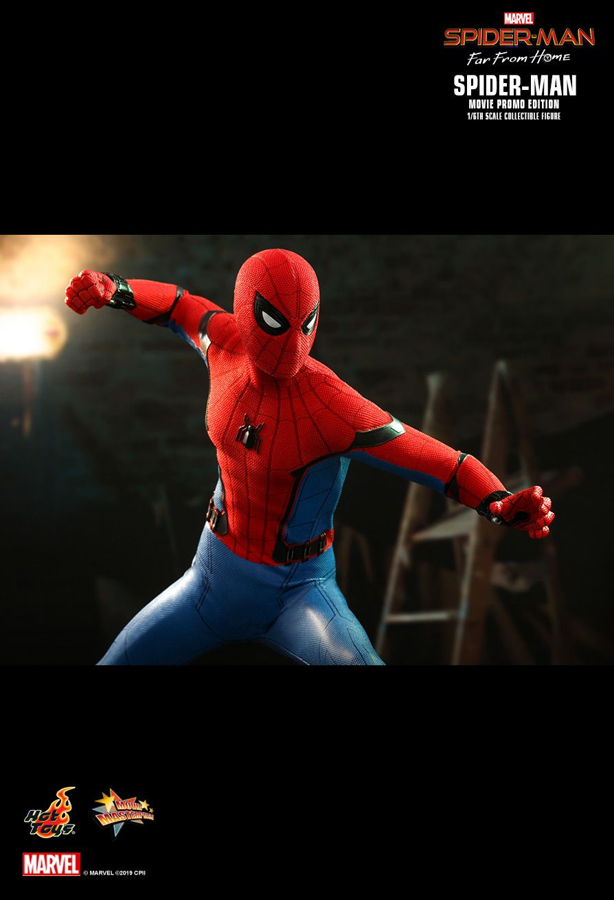 NEW PRODUCT: HOT TOYS: SPIDER-MAN: FAR FROM HOME SPIDER-MAN (MOVIE PROMO EDITION) 1/6TH SCALE COLLECTIBLE FIGURE 15113