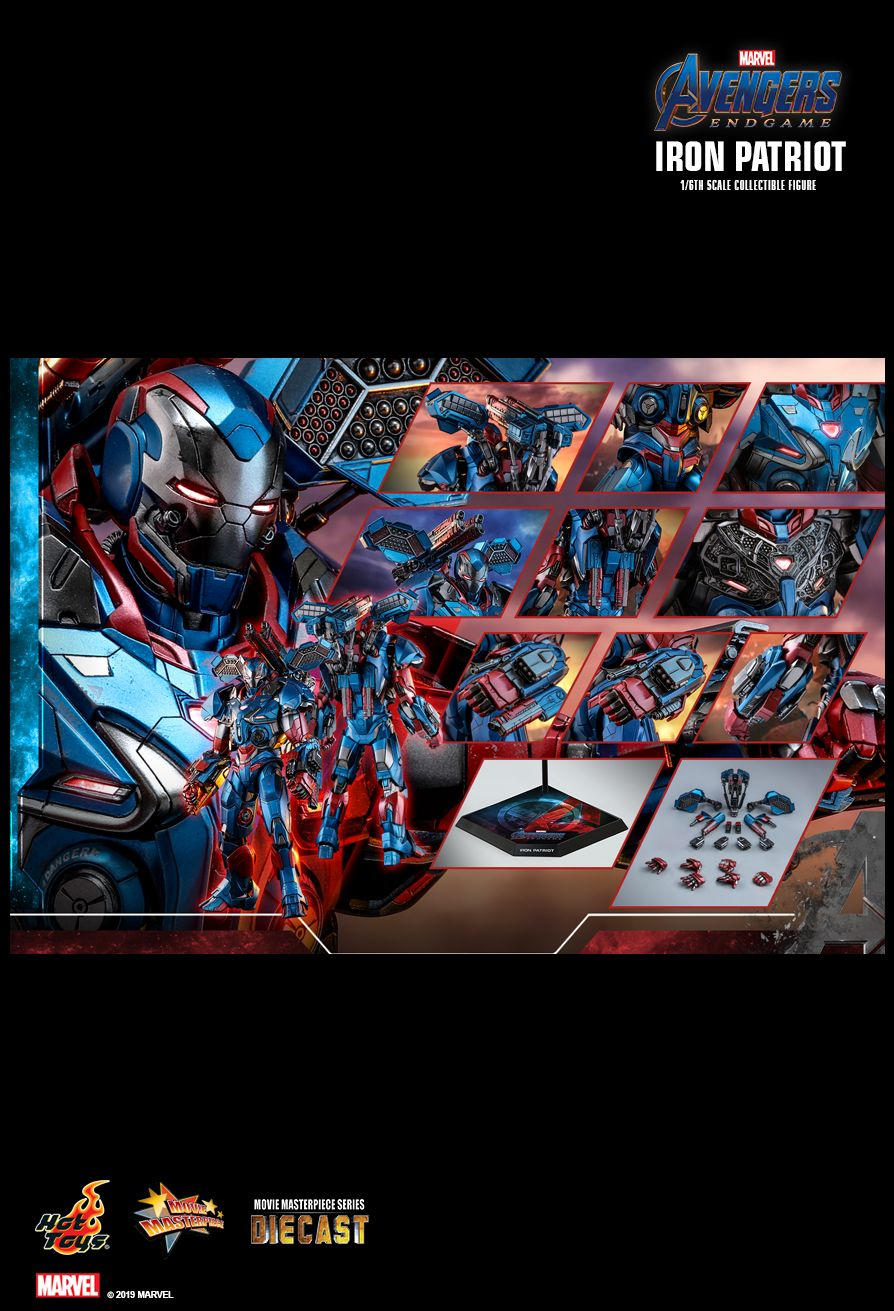 Endgame - NEW PRODUCT: HOT TOYS: AVENGERS: ENDGAME IRON PATRIOT 1/6TH SCALE COLLECTIBLE FIGURE 15124