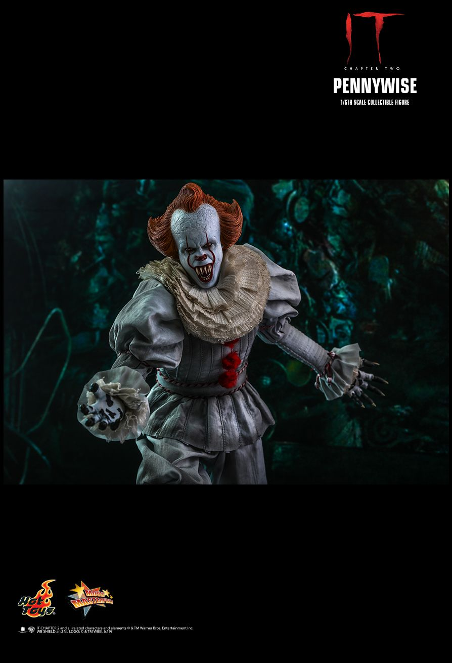 NEW PRODUCT: HOT TOYS: IT CHAPTER TWO PENNYWISE 1/6TH SCALE COLLECTIBLE FIGURE 15132