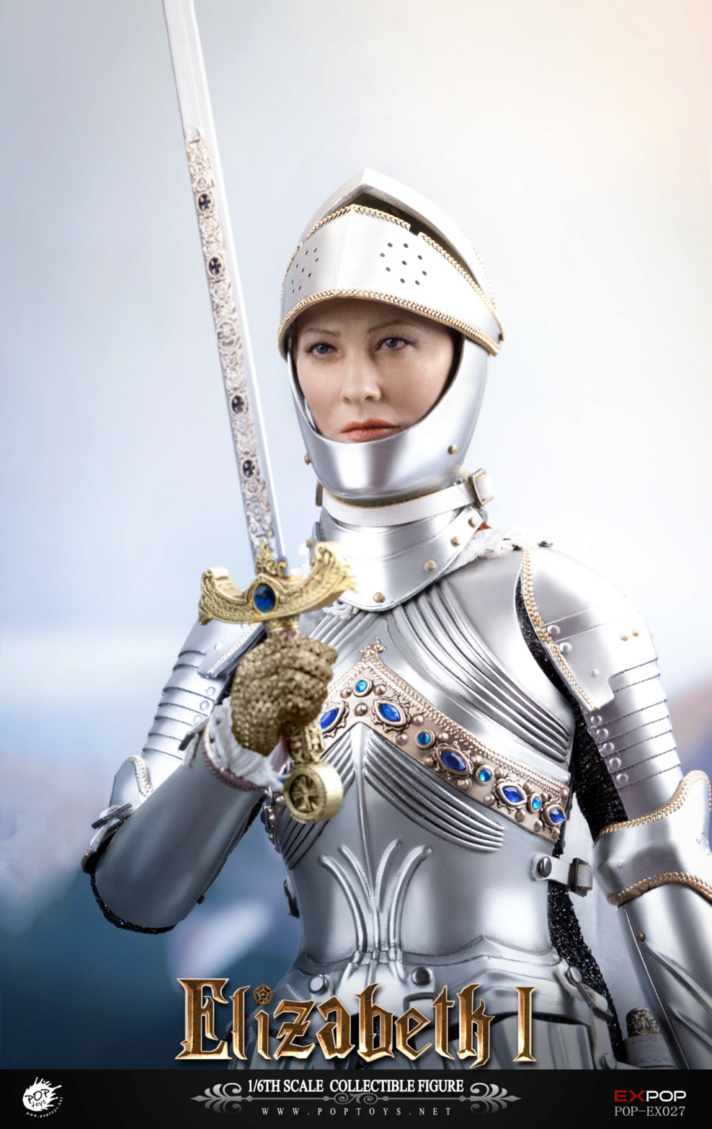 NEW PRODUCT: POPTOYS: 1/6 Queen Elizabeth I Single & Deluxe Edition & War Horse (EX027) 15133311