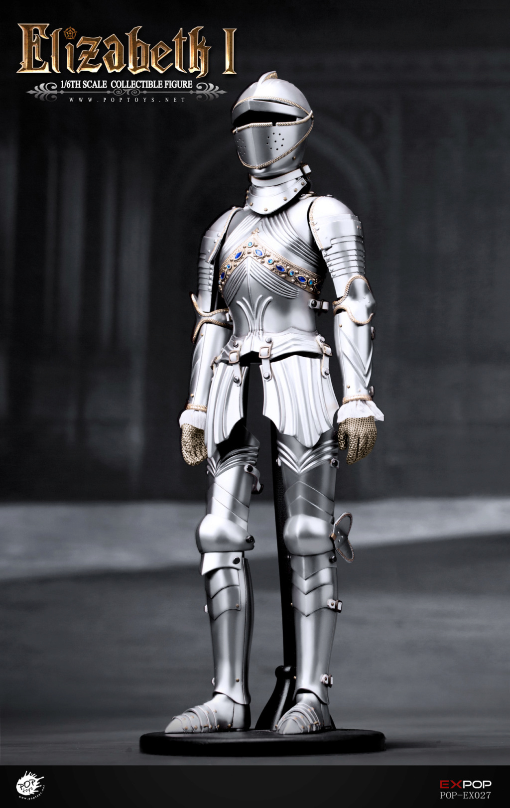 NEW PRODUCT: POPTOYS: 1/6 Queen Elizabeth I Single & Deluxe Edition & War Horse (EX027) 15140610