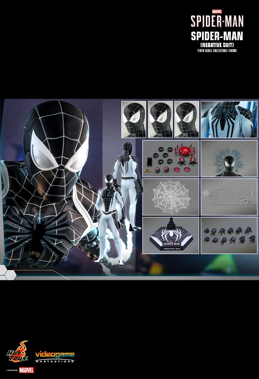 Spider-Man - NEW PRODUCT: HOT TOYS: MARVEL'S SPIDER-MAN SPIDER-MAN (NEGATIVE SUIT) 1/6TH SCALE COLLECTIBLE FIGURE (EXCLUSIVE EDITION) 15141