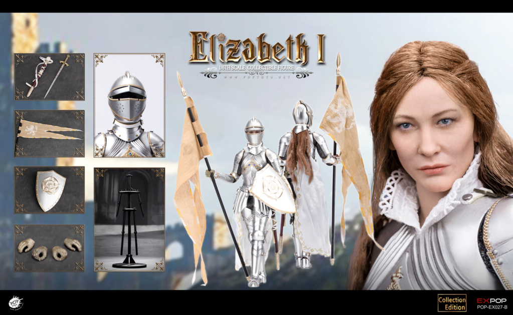 NEW PRODUCT: POPTOYS: 1/6 Queen Elizabeth I Single & Deluxe Edition & War Horse (EX027) 15142710