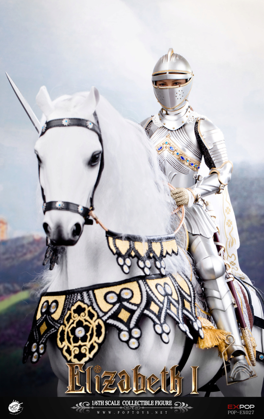 NEW PRODUCT: POPTOYS: 1/6 Queen Elizabeth I Single & Deluxe Edition & War Horse (EX027) 15144711