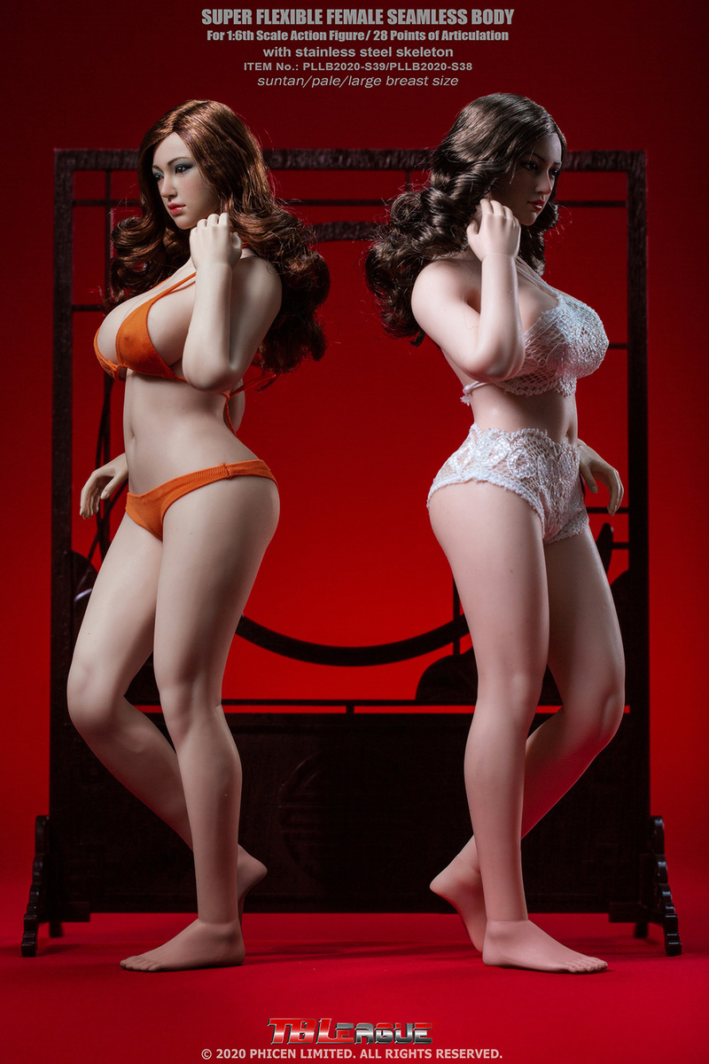 "body - NEW PRODUCT: TBLeague: 1/6 scale ""Chubby"" Female Body (2 styles, with or without a head sculpt) 15173"