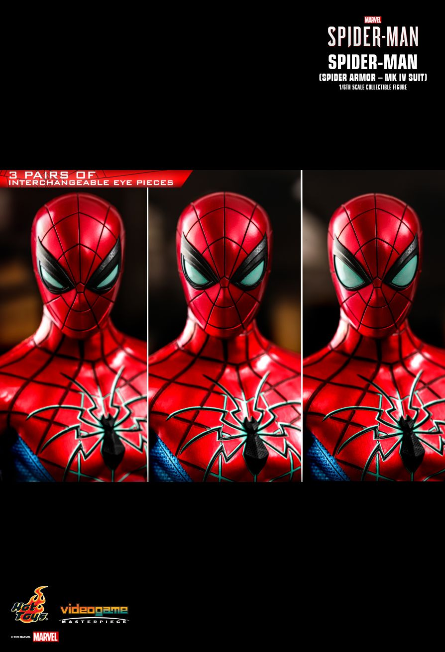 videogame - NEW PRODUCT: HOT TOYS: SPIDER-MAN (SPIDER ARMOR - MK IV SUIT) MARVEL'S SPIDER-MAN 1/6TH SCALE COLLECTIBLE FIGURE 15190