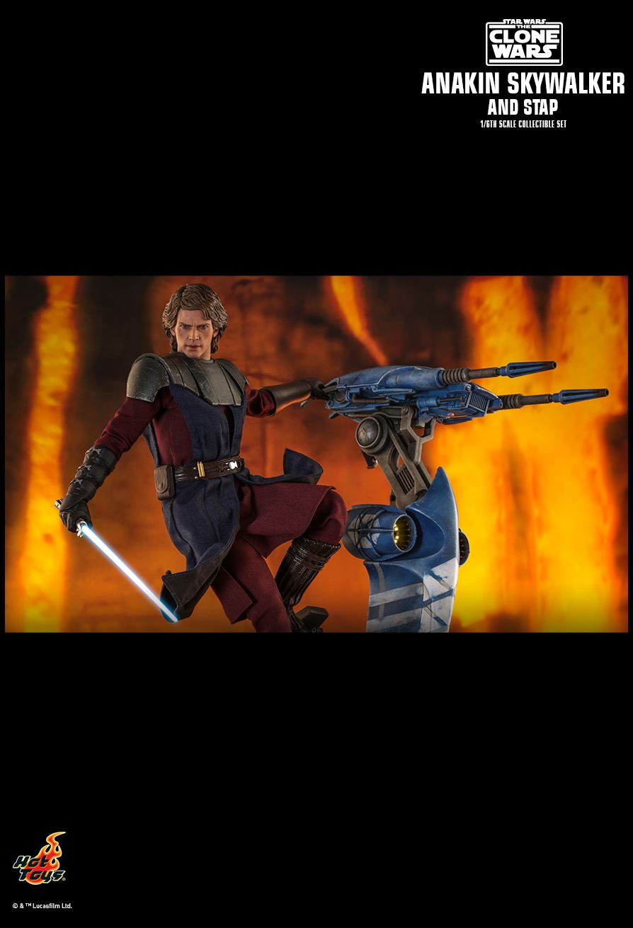 Sci-Fi - NEW PRODUCT: HOT TOYS: STAR WARS: THE CLONE WARS ANAKIN SKYWALKER AND STAP 1/6TH SCALE COLLECTIBLE SET 15198