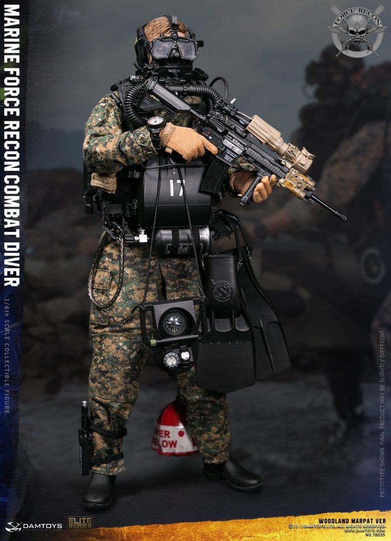 DamToys - NEW PRODUCT: DAM Toys: Marine Force Recon Combat Diver (Desert MARPAT) (GIDAM-78056) & (Woodland MARPAT) (GIDAM-78055) 152