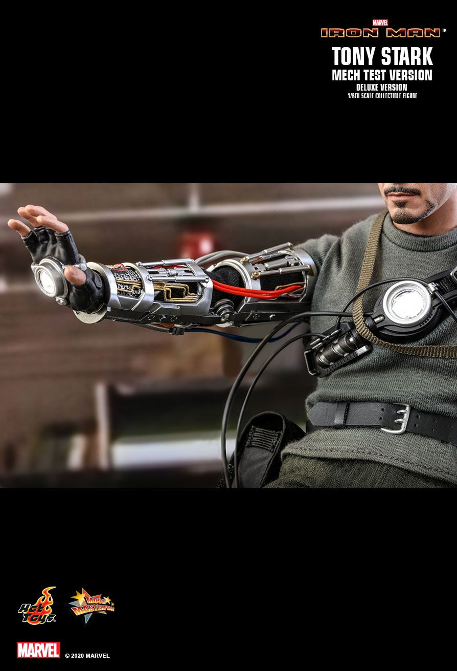 movie - NEW PRODUCT: HOT TOYS: IRON MAN TONY STARK (MECH TEST VERSION) (DELUXE VERSION) 1/6TH SCALE COLLECTIBLE FIGURE 15201