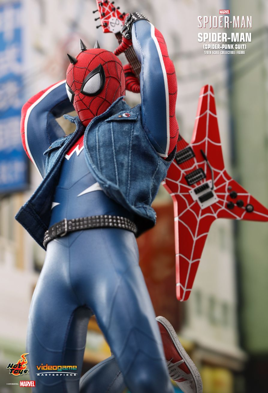 Spider-Punk - NEW PRODUCT: Hot Toys: MARVEL'S SPIDER-MAN SPIDER-MAN (SPIDER-PUNK SUIT) 1/6TH SCALE COLLECTIBLE FIGURE 1523